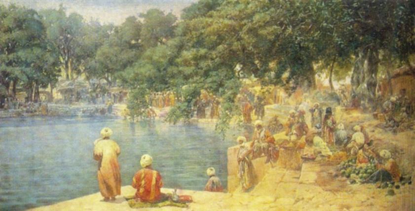 Pool Divan-Bega in  Bukhara. 1897