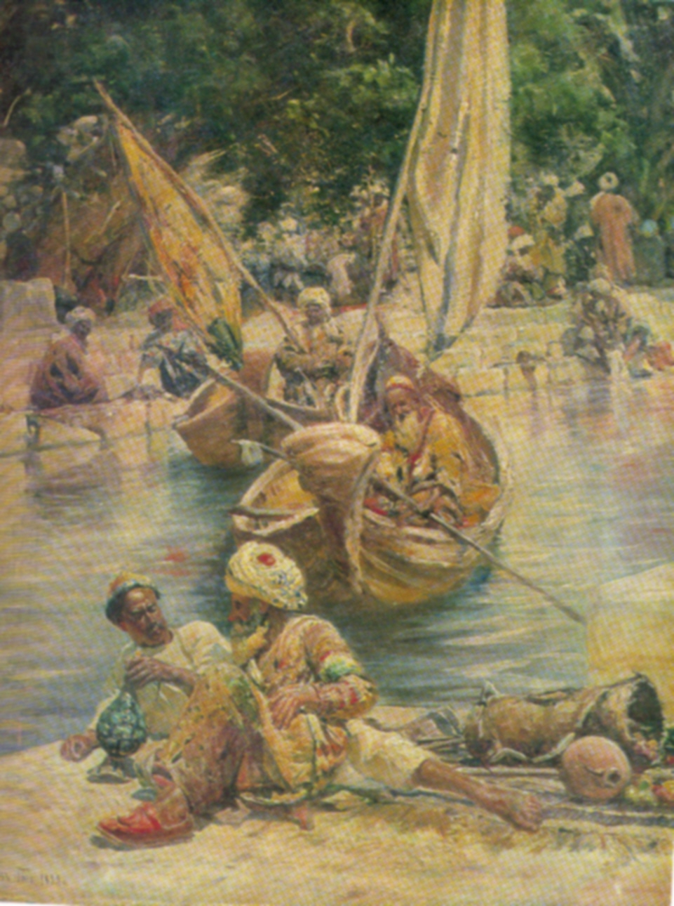 Bukharian in boat. 1898